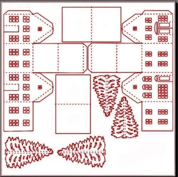 Новогодние поделки из бумаги и картона шаблоны