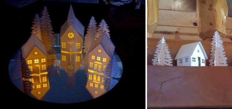 Раскрасить дом к новому году
